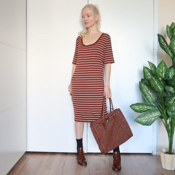 Forever 21 Plus Size T-shirt Midi Dress